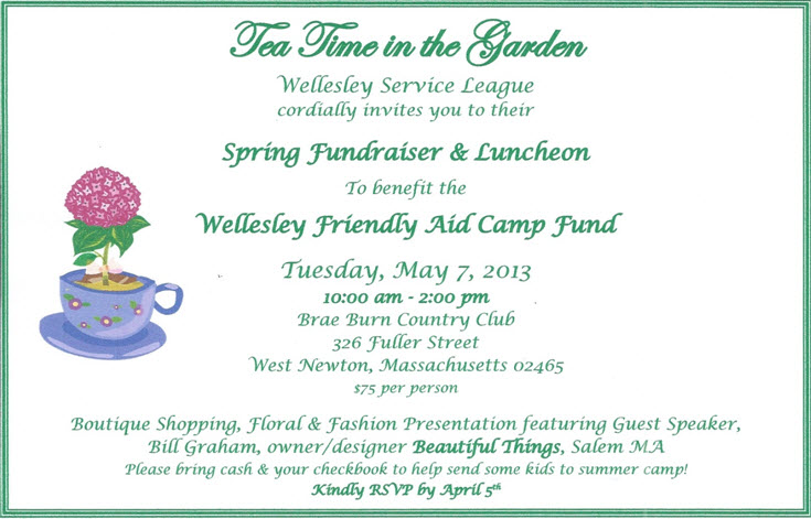 2013 WSL Fundraiser Invitation